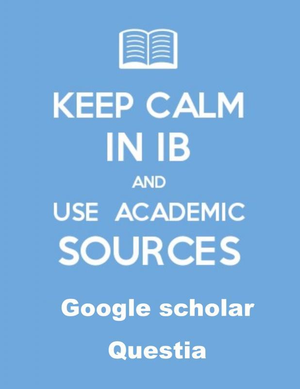 Keep calm in ib et use academic 1