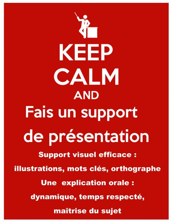 Memo support presentation